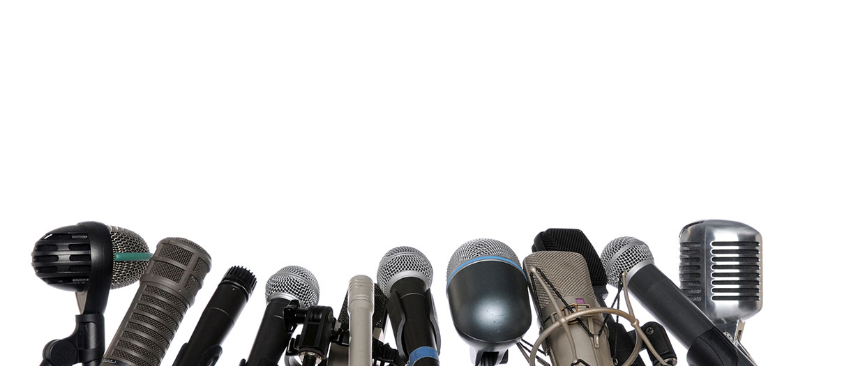 microphones_white_background