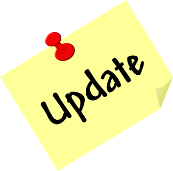 HIPAA Update post it with thumb tack