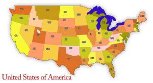 HIPAA USA map